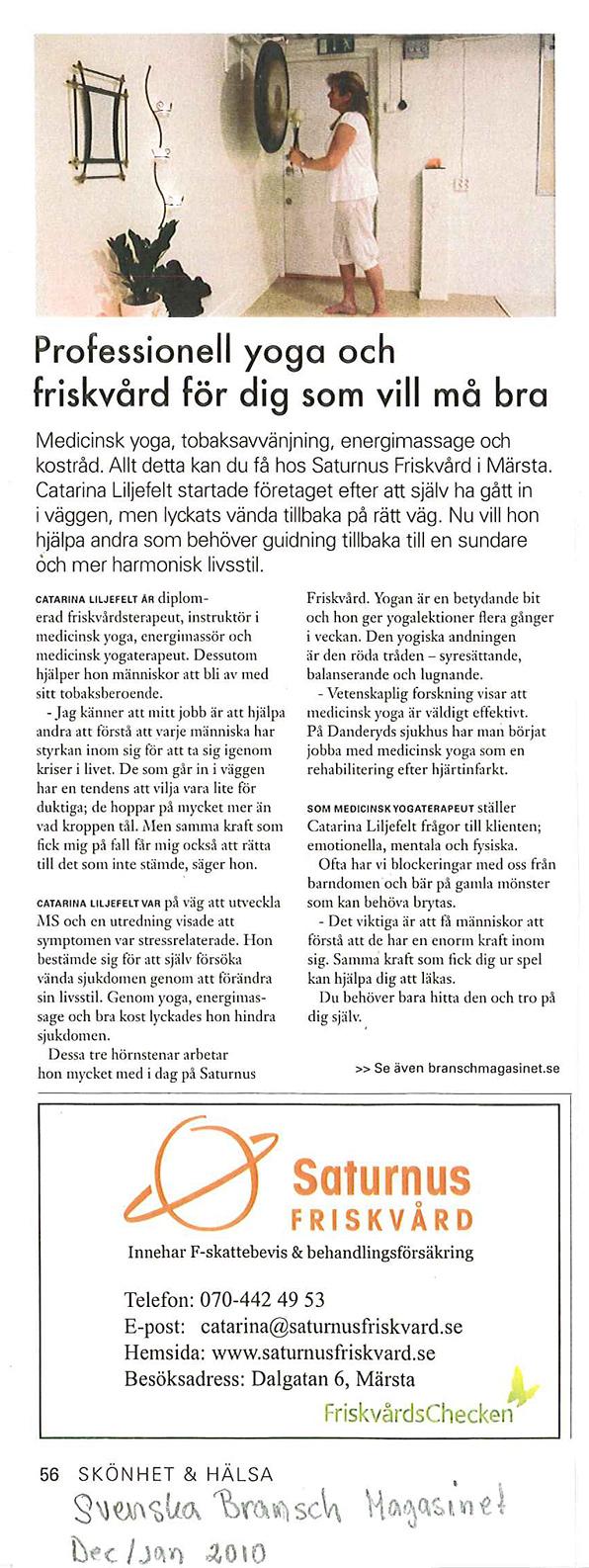 Artikel i Svenska Branschmagasinet
